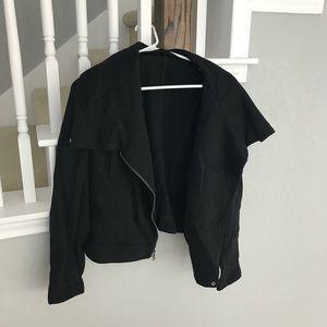Express Black Zip Up Sweater